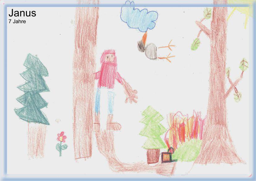 © 2011 bei Janus, 7 Jahre alt (Koffer ist im Wald verbrannt)