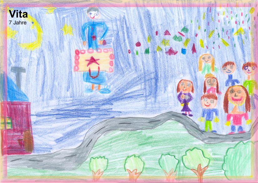 © 2011 bei Vita, 7 Jahre alt (Feuerwerk am Himmel)