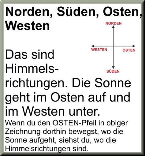norden westen süden osten