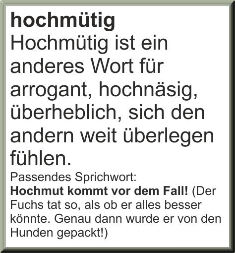 Hochmütig